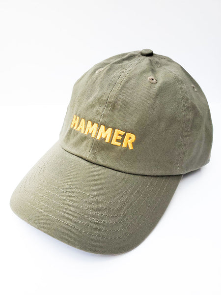 Hammer Hat Olive Green with Yellow