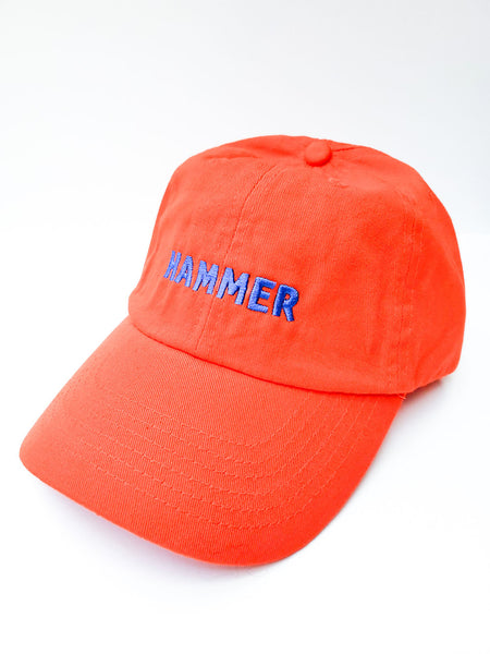 Hammer Hat Orange with Blue