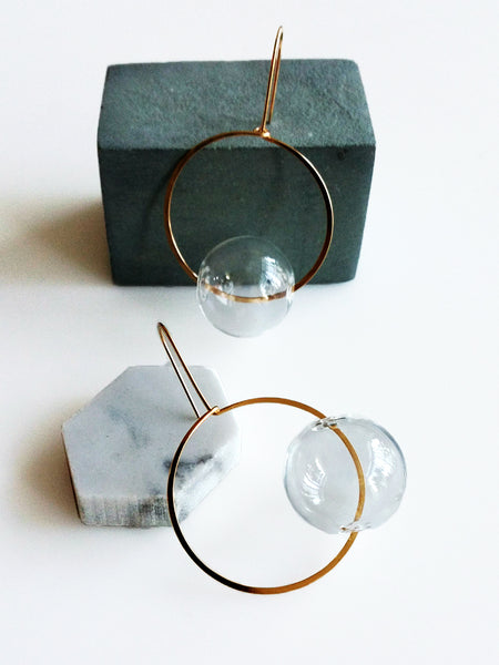 Hyworks: Round & Round Glass Earrings