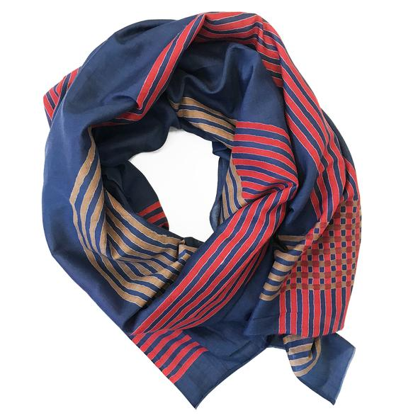 Block Shop: Gemini Navy Scarf