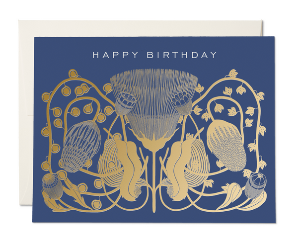 Notecard Happy Birthday Cobalt