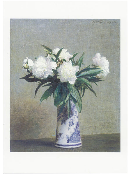 AHC Postcard Fantin-Latour: Peonies in a Blue and White Vase