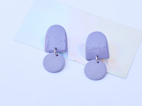 Four Eyes Ceramics: Mini Dome Earrings
