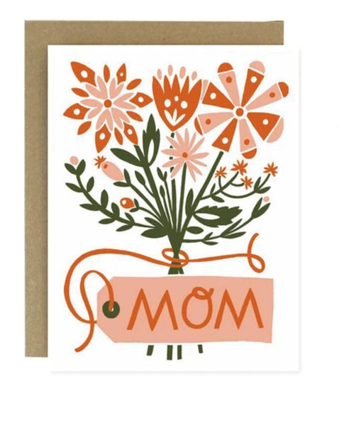 Mother's Day Flower Bouquet Notecard