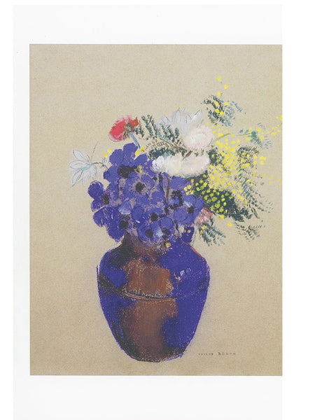 AHC Postcard Redon: Vase of Flowers