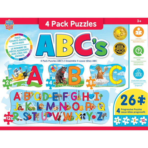 ABC's - 4 Pack Puzzles - 26 pieces