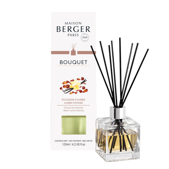 Amber Powder Cube Reed Diffuser Set