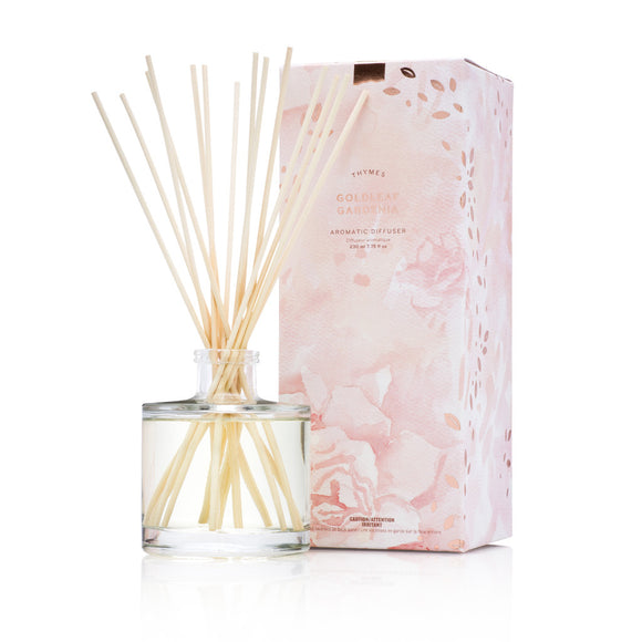 Thymes Goldleaf Gardenia Diffuser Set