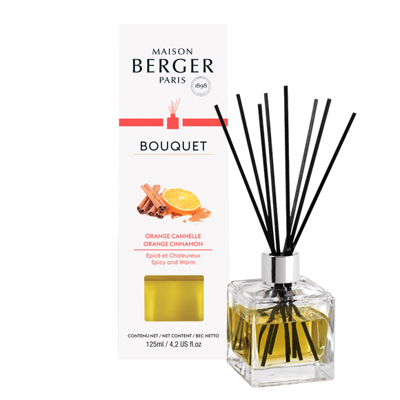 Orange Cinnamon Cube Reed Diffuser Set