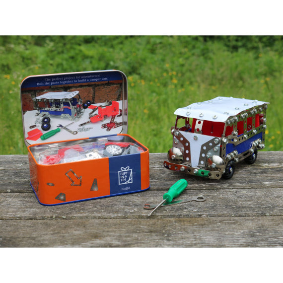 Camper Van Construction Set - Gift in a Tin