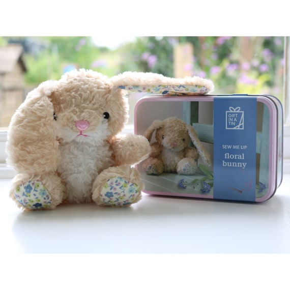 Sew Me Up Floral Bunny - Gift in a Tin