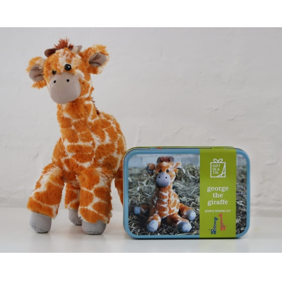 George the Giraffe Sewing Kit - Gift in a Tin