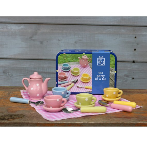 Tea Party Playset - Gift in a Tin
