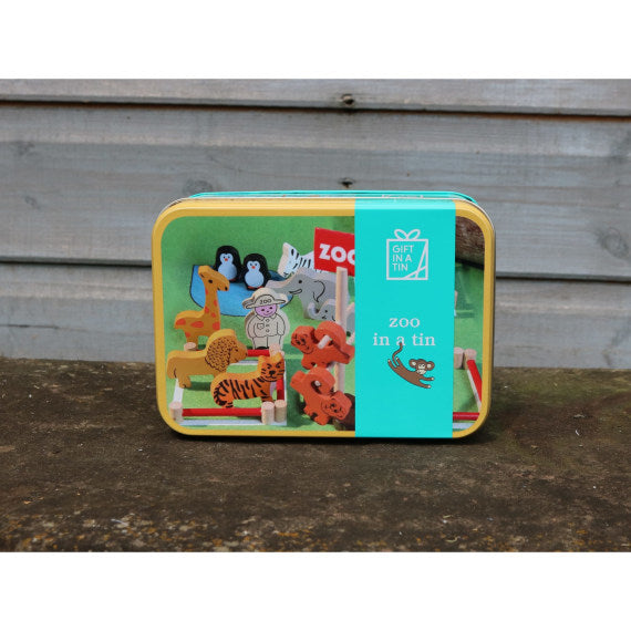 Zoo in a Tin Playset - Gift in a Tin