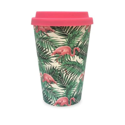 Bamboo Eco Mug - Flamingo