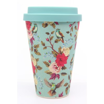 Bamboo Eco Mug - Birds & Flowers