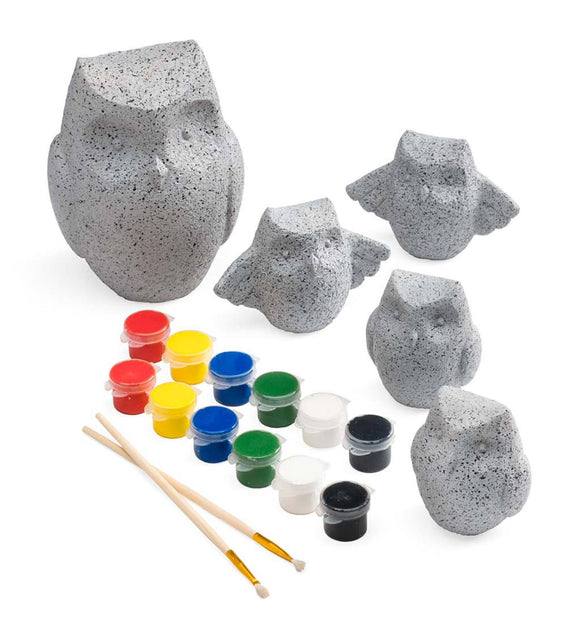 Paint Your Own Rock Pets - Owls