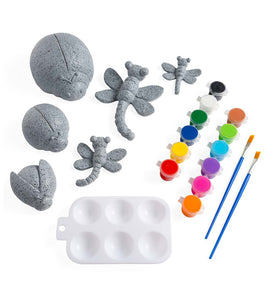 Paint Your Own Rock Pets - Ladybugs and Dragonflies