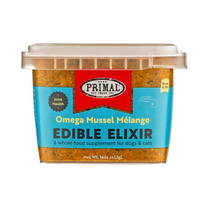 Primal Edible Elixir Omega Mussel Melange Grain Free Frozen Food Supplement