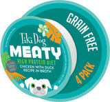 Tiki Dog Meaty High Protein Diet Chicken With Duck Recipe in Broth Grain Free Wet Dog Food