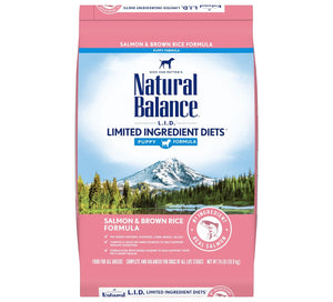 Natural Balance L.I.D. Limited Ingredient Diets Salmon & Brown Rice Puppy Formula Dry Dog Food,