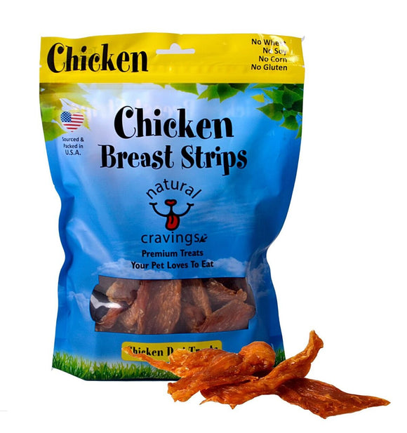 Natural Cravings Chicken Breast Strips Grain Free Dog Treats