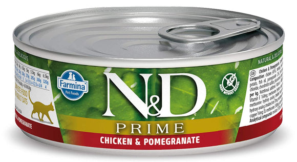 Farmina N&D Prime Chicken & Pomegranate Grain Free Wet Cat Food