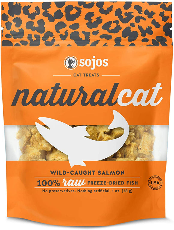 Sojos Naturalcat Wild Caught Salmon Grain Free Freeze Dried Raw Cat Treats