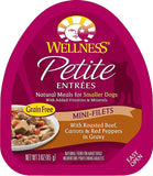 Wellness Petite Entrees Mini-Filets With Roasted Beef, Carrots & Red Peppers in Gravy Grain Free Wet Dog Food