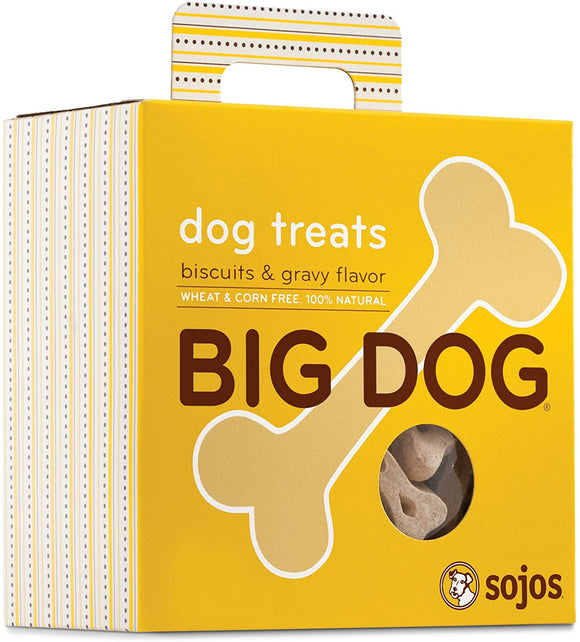 Sojos Big Dog Biscuits & Gravy Flavor Grain Inclusive Biscuit Dog Treats