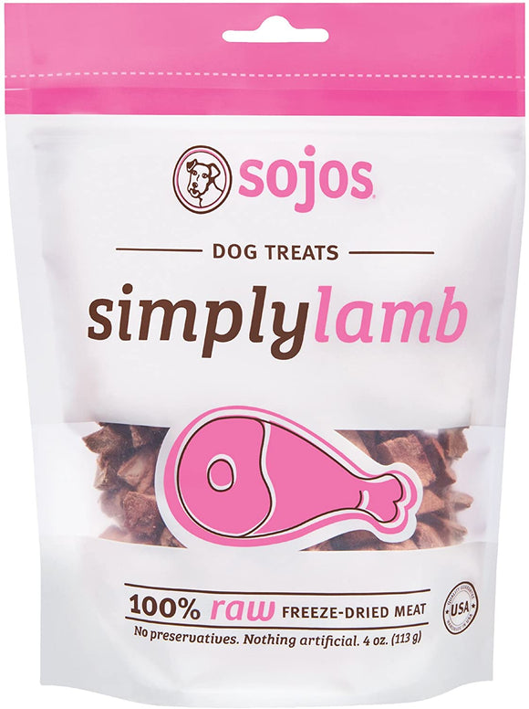 Sojos Simply Lamb Grain Free Freeze Dried Raw Dog Treats