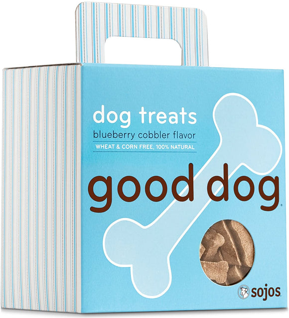 Sojos Good Dog Blueberry Cobbler Flavor Grain Inclusive Biscuit Dog Treats