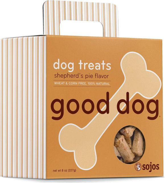 Sojos Good Dog Shepherd's Pie Flavor Grain Inclusive Biscuit Dog Treats