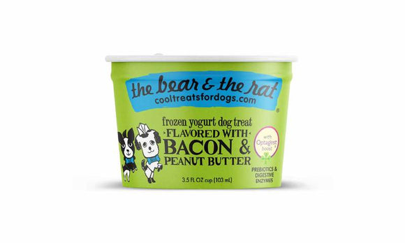 The Bear & The Rat Frozen Yogurt Bacon & Peanut Butter Grain Free Dog Treat