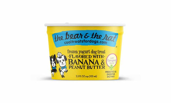 The Bear & The Rat Frozen Yogurt Banana & Peanut Butter Grain Free Dog Treat