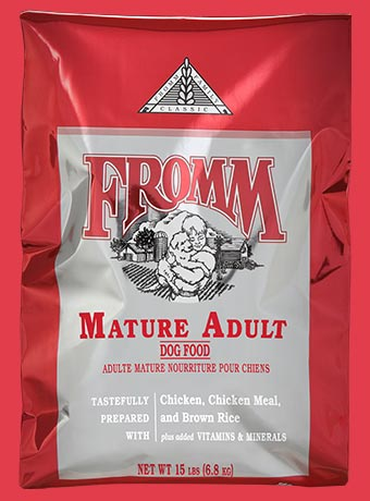Fromm Mature Adult Chicken, Brown Rice & Eggs Grain Inclusive Dry Dog Food