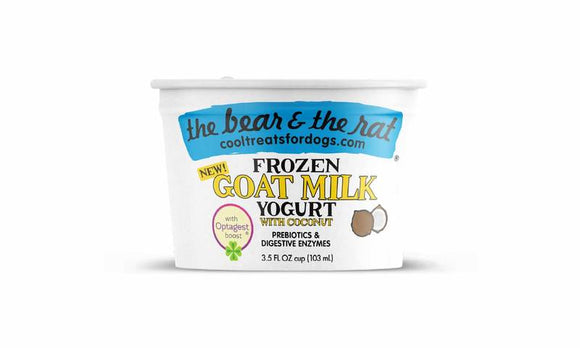 The Bear & The Rat Frozen Yogurt Goat Milk Coconut Grain Free Dog Treat