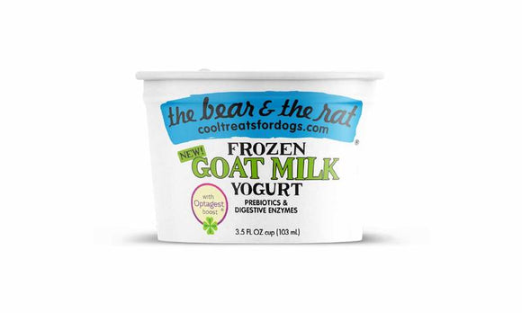 The Bear & The Rat Frozen Yogurt Goat Milk Grain Free Dog Treat