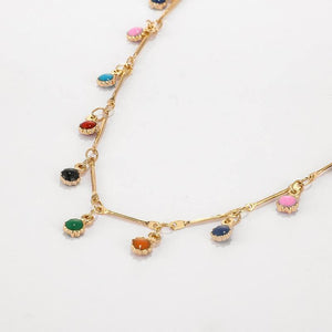Crystal Beads Pendant Clavicle Chain Necklace - Muximo
