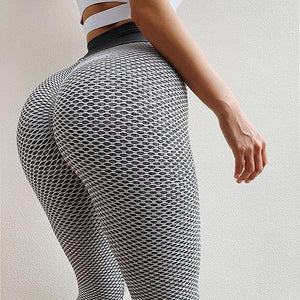 High Waist Elastic Push Up Ankle Length Polyester Leggings - Muximo