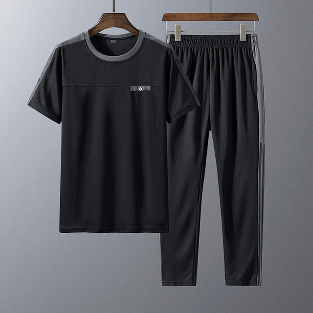T-shirt + Pants + Short Casual Track Suit Fashion Sportswear