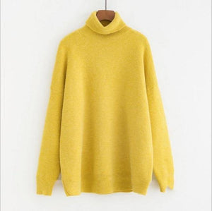 Thick Warm Pullover Cashmere Jumper Soft Oversized Knitwear Sweater - Muximo