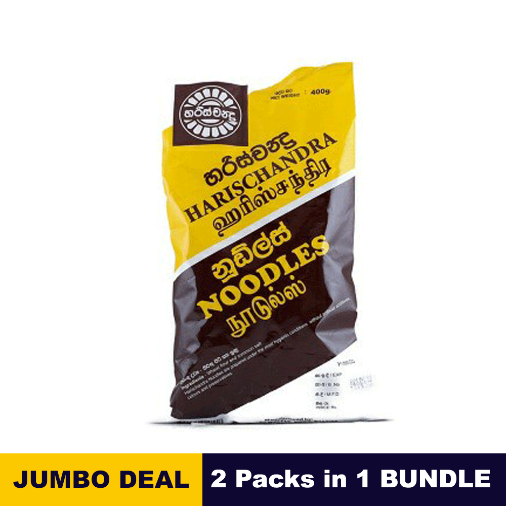 Harischandra Plain Noodles 400g x 02 packs bundle