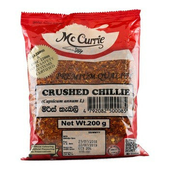 Mc Currie Crushed Chillie 200g