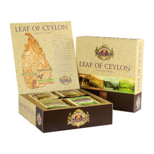 Load image into Gallery viewer, Leaf of Ceylon collection - Basilur - 40 Tea Bags assorted gift pack x 03 packs in bundle