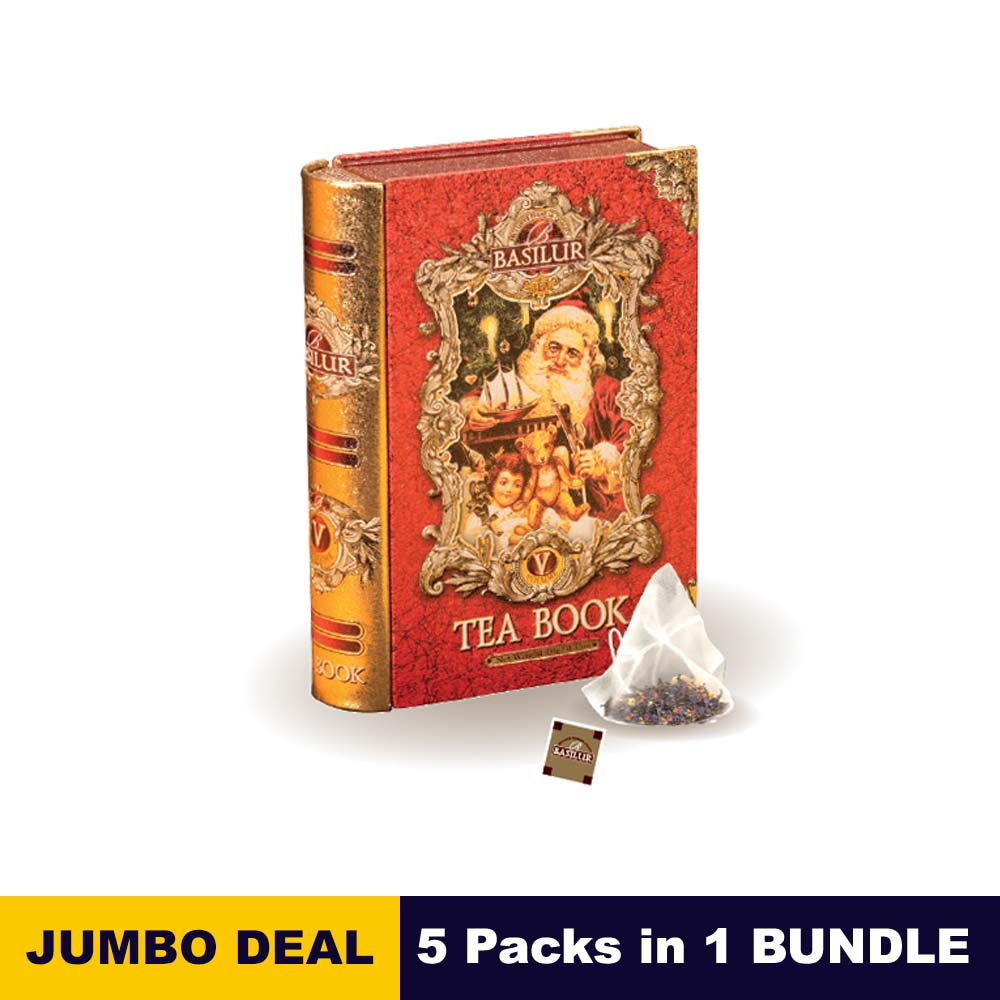 Mini Tea Book Vol v - Basilur - 05 tea bags 10g (3.5oz) x 05 packs bundle