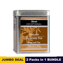 Load image into Gallery viewer, Exceptional Italian Almond - Dilmah - 100g (3.52oz) tin caddy x 02 Packs bundle