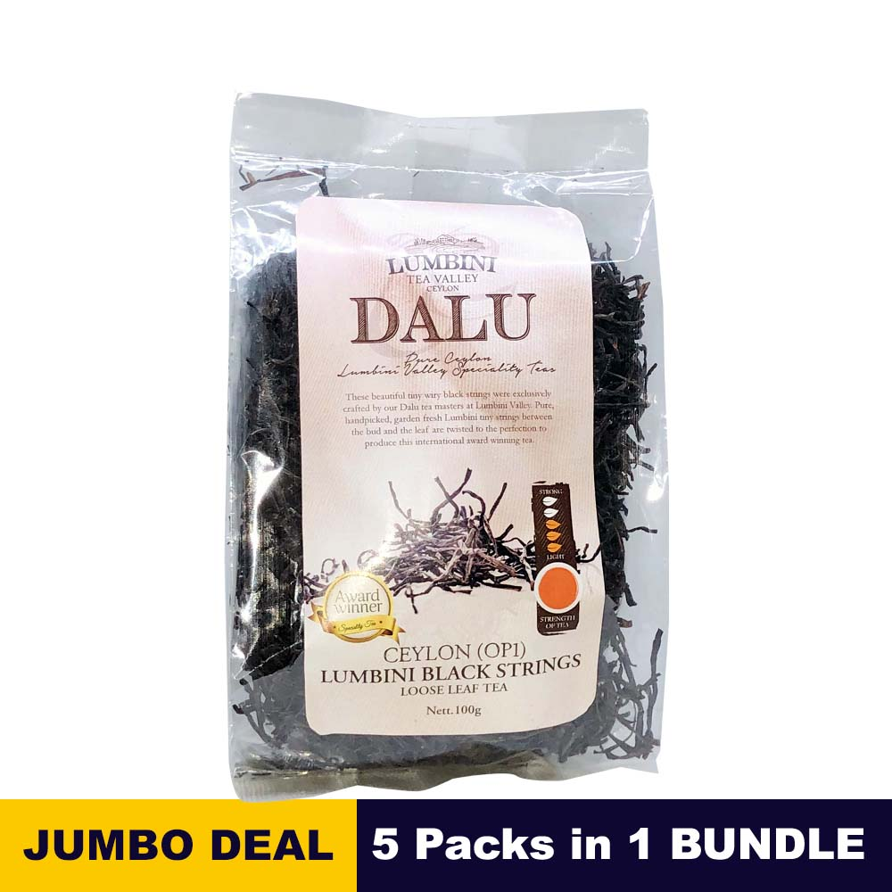 Black strings OP1 tea - Lumbini tea - 100g (3.52oz) x 05 Packs bundle