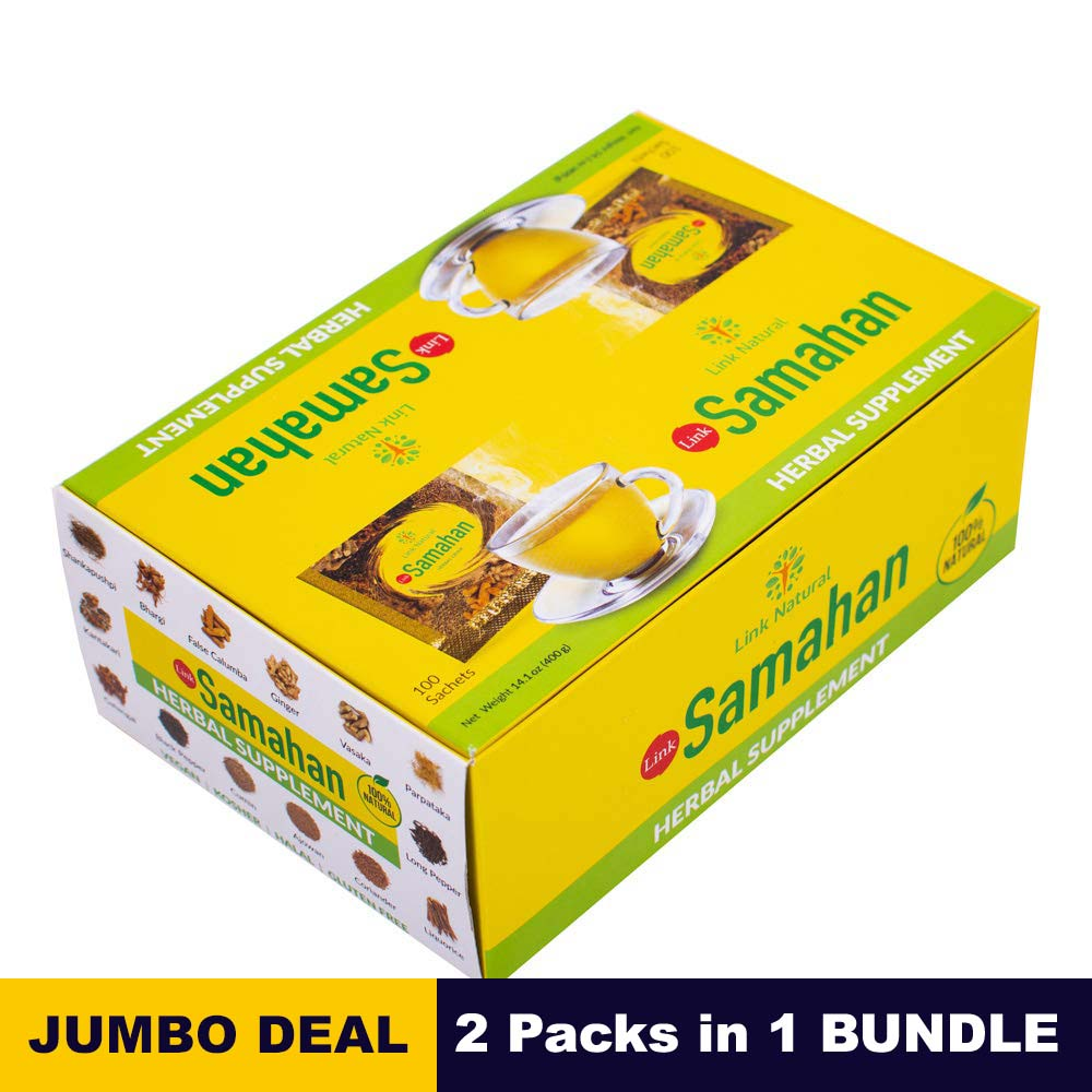 Samahan - Link natural - 100 sachets x 02 packs bundle