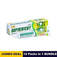Load image into Gallery viewer, Siddhalepa Supirivicky toothpaste - 110g x 12 packs bundle